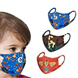 Cotton Face Macks Activated Carbon Filter Replaceable Haze Dust Face Health Protection for Kids Washable Reuse...