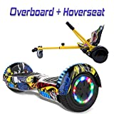 COLORWAY Hover Board con Kart Scooter 6.5',Self Balance Scooter Elettrico, Monopattino Elettrico (Hip-Kart Hip)
