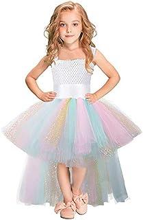 女の子のパーティードレス パーティーの服装のファンシードレスプリンセスツツースカートの祭りのパフォーマンスのための誕生日のパーティーカーニバルのハロウィーンの写真の撮影子供のための二十歳?二歳 フォーマルなパーティーの誕生日の卒業プロムのダンスのボールのドレスドレス (サイズ : 7-8T)