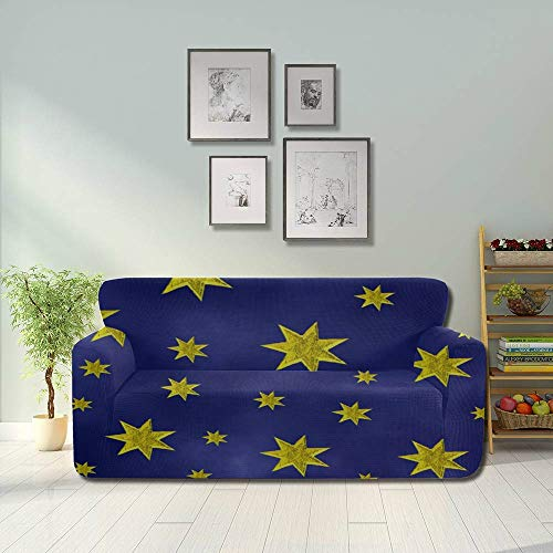 LIANGWE Star Sky Starry Sky Space Night Universe Blue Sofa Seat Covers Sofa Dust Cover Fitted Furniture Protector 2&3 Seat Sofas