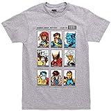 X-Men Yearbook of 1991 Adult T-Shirt - Heather Grey (Medium)
