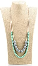 Lofca Silicone Teething Necklace-Baby Toy for Mom to Wear- Stylish Teether-Safe for Baby-100% BPA Free-'Eudora'(Mint)