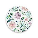 Montoj - Posavasos con diseño de hojas de hortensia, para bebidas, regalo único para amigos, posavasos absorbentes para bebidas, madera, 1, 4 pieces set