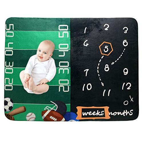 NROCF Milestone Bébé Couverture - Bébé Record Mensuel Croissance Sport Blanket Nouveau-Né Photographie Props Creative Fond en Tissu Cadeaux