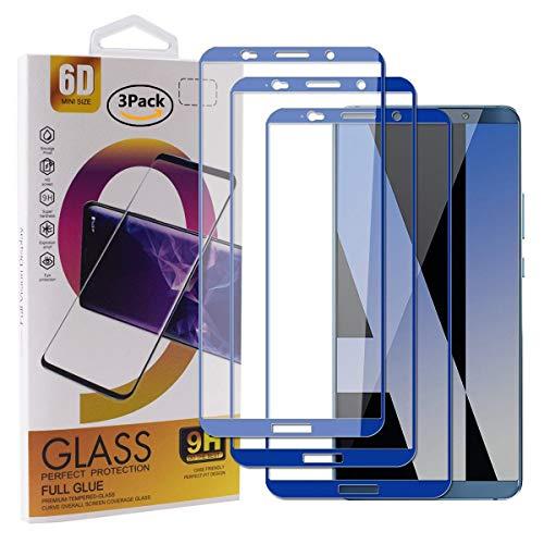Guran [3 Pezzi Pellicola Vetro Temperato per Huawei Mate 10 PRO Smartphone Copertura Completa 9H Durezza Anti-Impronte HD Pellicola Protettiva - Blu Scuro