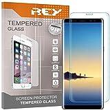 REY Pack 2X Panzerglas Schutzfolie für Samsung Galaxy Note 8 - NOTE8, durchsichtig, Bildschirmschutzfolie 9H+, Polycarbonat, Festigkeit, Anti-Kratzen, Anti-Öl, Anti-Bläschen, 3D / 4D / 5D
