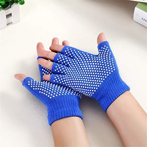 Chalkalon Guantes Para Yoga Y Pilates, Mujeres Cotton Half Finger Anti Slip Yoga Gloves Deportivos, Guantes Resistentes Al Desgaste up-to-date