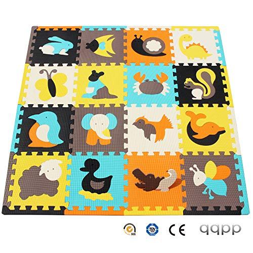 qqpp Tapis de Puzzles – Tapis de Sol épais pour l'éveil de bébé - Puzzle géant aux Motifs...