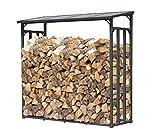 QUICK STAR Support de bois de chauffage 143x70x145cm grille de bois de chauffage...