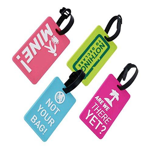 EQLEF®  Conjunto de 4 Etiquetas de Equipaje Precioso Titular de Tarjeta Secure Business Etiquetas de Equipaje Maleta de PVC/Bolsa de Viaje de ID Tag