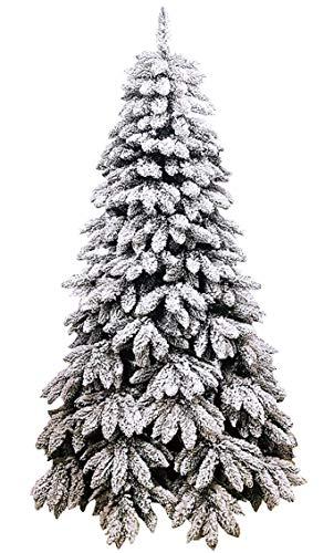 manieri Albero di Natale Artificiale Innevato 210 cm 1201 Rami Tarvisio Floccato