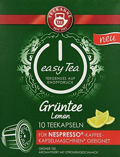 Teekanne easy Tea Grüntee Lemon, 6er Pack (6 x 20 g, 6x10 kapseln)