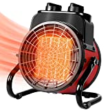 Electric Portable Space Heater, Electric Forced Air Heater with 3 Modes, 1500W Ceramic Space Heater with Adjustable Thermostat, Small Portable Heater for Indoor Use, Sunday Living