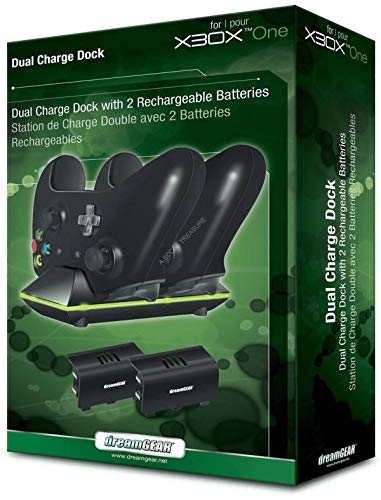 DreamGEAR DGXB1-6603 Dual Charge Dock Black for Xbox One