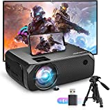Bomaker Wi-Fi Mini Projector, 150 ANSI Lumen Portable Outdoor Movie Projector, Full HD...