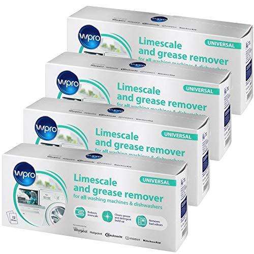 Wpro Détartrant et dégraissant universel pour machine à laver et lave-vaisselle (48 sachets de 50 g)
