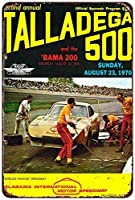 Shimaier 壁の装飾 メタルサイン 1970 Talladega 500 Speedway, NASCAR ウォールアート バー カフェ 縦20×横30cm ヴィンテージ風 メタルプレート ブリキ 看板