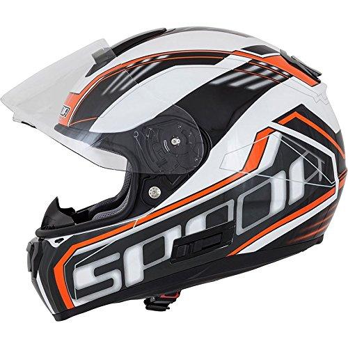 Spada SP16gradiente Full Face casco de moto, color blanco/naranja