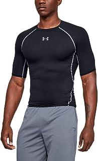 Under Armour Men's HeatGear Armour Short-Sleeve Compression T-Shirt , Black (001)/Steel , 3X-Large Tall