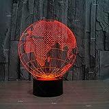 Lámpara De Ilusión Óptica 3D 3D Illusion Light Decoración Del Hogar El Botón Perfecto Panel Acrilico 7 Cambios De Color Regalo De Vacaciones De Europa Regalo De Forma De Tierra Led