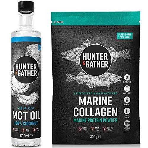 Hunter & Gather Ergänzung Premium C8 & C10 MCT Öl und Meereskollagen Peptide Pulver 400g