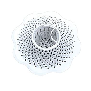 Danco Hair Catcher for Bathroom Bathtub Strainer, White, 10306