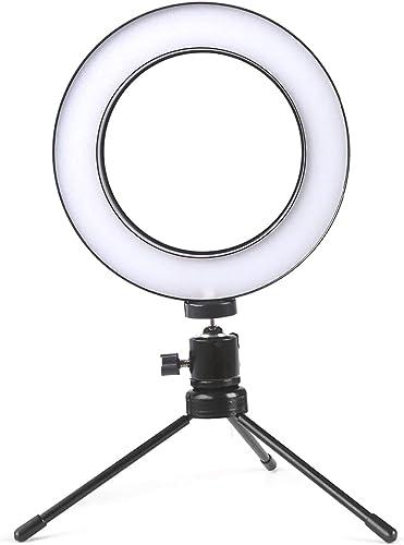 Ring Light 16cm Led Bicolor Dimmer C/Tripé Blog Make Up I20