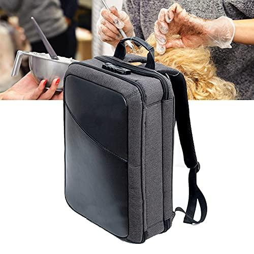 Estuche de almacenamiento de herramientas de peluquería, equipo de peluquería profesional de gran capacidad, bolsa de transporte de herramientas de salón, estuche de almacenamiento de viaje