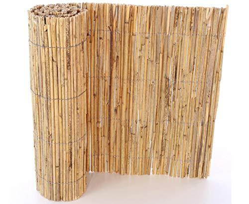 bambus-discount.com Schilfrohr Bastelmatte 80 x 100cm naturbelassen - Baumschutzmatte Verkleidung Pflanztöpfe