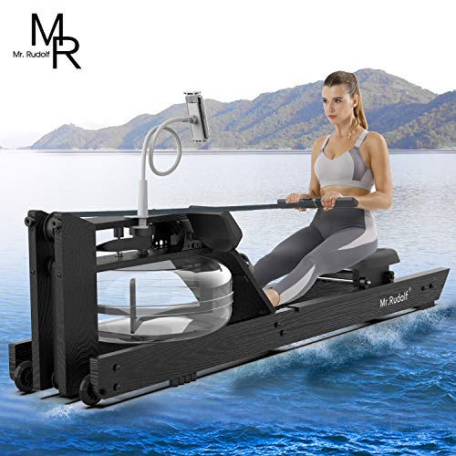 Mr Rudolf Oak Wood Water Rowing Machine with Monitor Home Gyms Training Equipment Sports Exercise Machine Fitness Indoor…