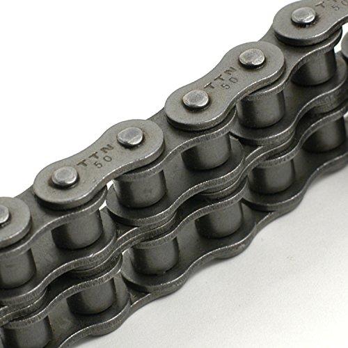 "TRITAN 50-2R 10FT Precision ANSI Double Roller Chain, 5/8"" Pitch, 10' Box"