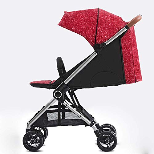Lowest Price! Abwy Easy Folding with One Click Pushchairs Light 4 Seasons are Universal Baby Strolle...