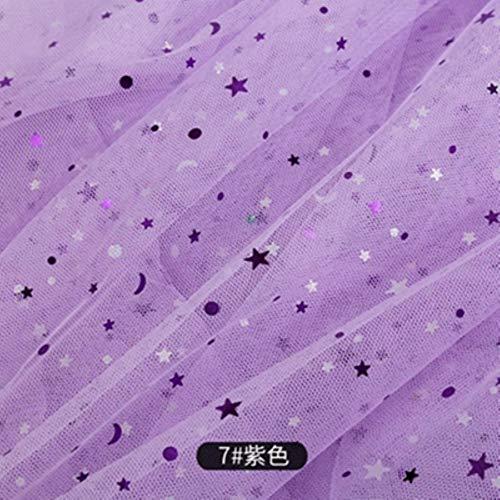 CHWK Günstiger Tüllstoff zum Nähen von Kinderkleidern Star Mesh Stoff für DIY Bunte Hintergrunddekoration 45 * 135 cm/STK. Tj0167-2,7,25X135 cm (0,25 m)
