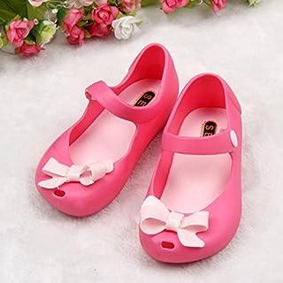 [Mangjiu] レインブーツ かわいい女の子赤ちゃん子供ゼリー弓レインブーツ魚口サンダルレインブーツ子供雨具 ブーツ 雨靴