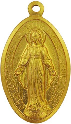 Ferrari & Arrighetti Medalla Milagrosa de Aluminio Dorado - 1,6 cm (Paquete de 50 Piezas)