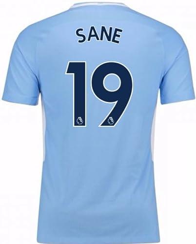 2017-18 Man City Home Football Soccer T-Shirt Maillot (Leroy Sane 19)