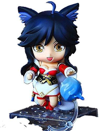 dsfew Neue LOL-Figur Ahri-Figur Action-Figur Chibi-Figur,Perfekt FüR BüRodekorationen Und Spielzeug.