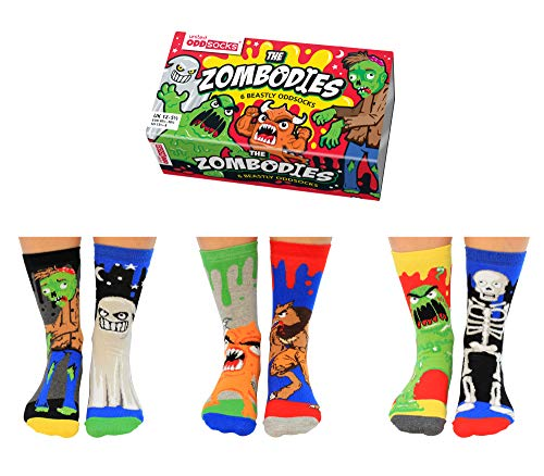Zombodies Monster Oddsocks Socken in 30,5-38,5 im 6er Set - Strumpf