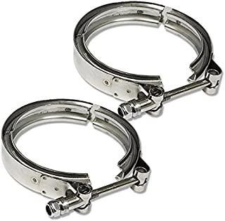 3.5 inches Coated Stanless Steel 10 inchesmm Lock Bolt V-Band Clamp (Pack of 2)