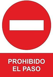 MovilCom® - Señal de aluminio PROHIBIDO EL PASO 300X400mm Señal prohibición (ref.RD41917)
