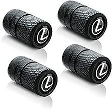 Lexus dust cover car tire valve cover-heavy-duty wheel air cover car exterior accessories for Lexus RX350 UX200 NX300 IS300 ES350 GS350 GX460 LX570 RC300 LC500 tire valve stem cover Gray