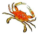 "LX Hand Painted Red Crab Beach Tiki Bar Wall Mount Decor 6"""
