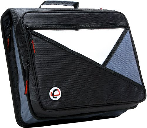 Case-it Universal 2-Inch 3-Ring Zipper Binder, Holds 13 Inch Laptop, Black, LT-007-BLK