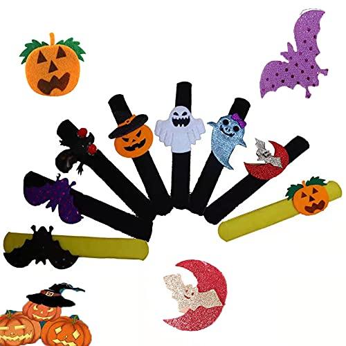 Decoración navideña,Pulseras Slap Halloween, Pulseras de Bofetada Felpa...