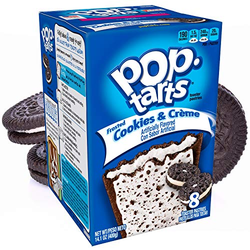 Kelloggs® - POP TARTS | COOKIES & CREAM (Frosted) | 8 Törtchen | 384 g