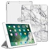 FINTIE Funda para iPad 9.7 (2018/2017), iPad Air 2, iPad Air - Trasera Transparente Carcasa Ligera con Función de Soporte y Auto-Reposo/Activación, Mármol