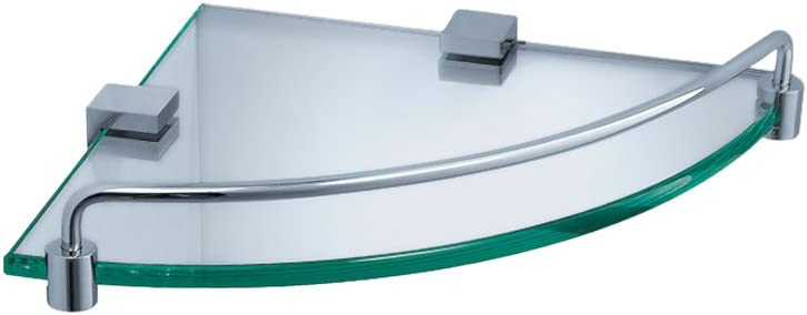 Fresca Bath SEAL limited product FAC0448 Free shipping anywhere in the nation Ottimo Chrome Corner Glass Shelf