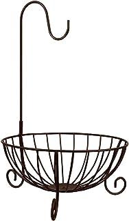WINOMO フルーツ スタンド フルーツバスケット バナナ吊りフック付き ワイヤ モダンな果物かご