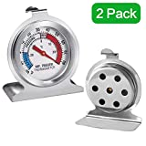 2 Pack Refrigerator Thermometer Large Dial Monitoring Thermometer (Freezer/Refrigerator)-Hushtong
