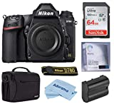 Nikon D780 FX-Format DSLR Camera Body Only, Bundle with Bag, Extra Battery, Glass Screen Protector, 64GB SD Card, Cloth